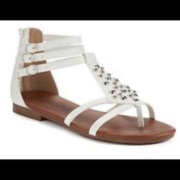 7c8792291ae Brand New Mudd White Studs Gladiator Sandals 7.5